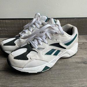 Reebok Aztrek 96 classic dad sneakers black & teal